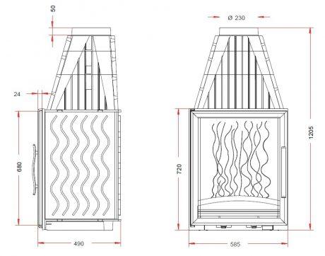 Laudel Vertical Grande Vision 720-1