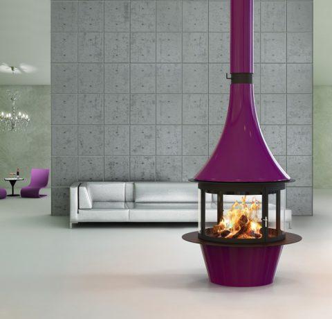 Дизайнерский камин Lorena-centra Пример 1