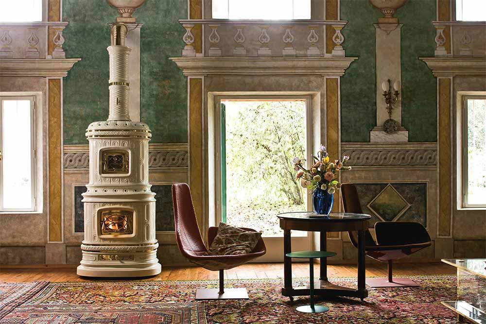 Печь Sergioleoni в роскошном интерьере